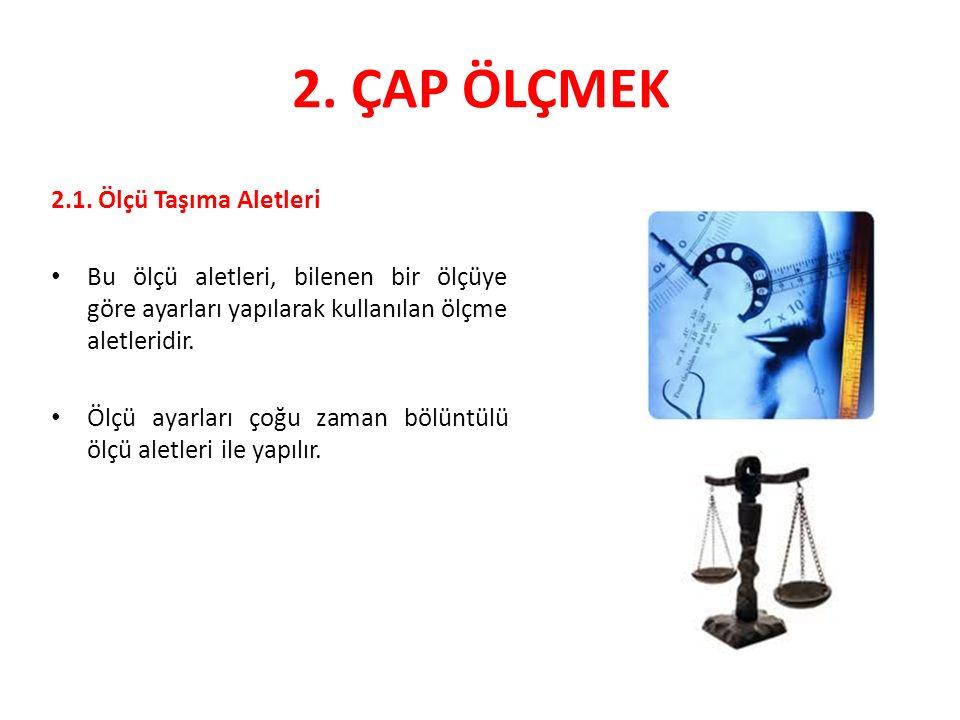 2.ÇAP ÖLÇMEK 2.1.