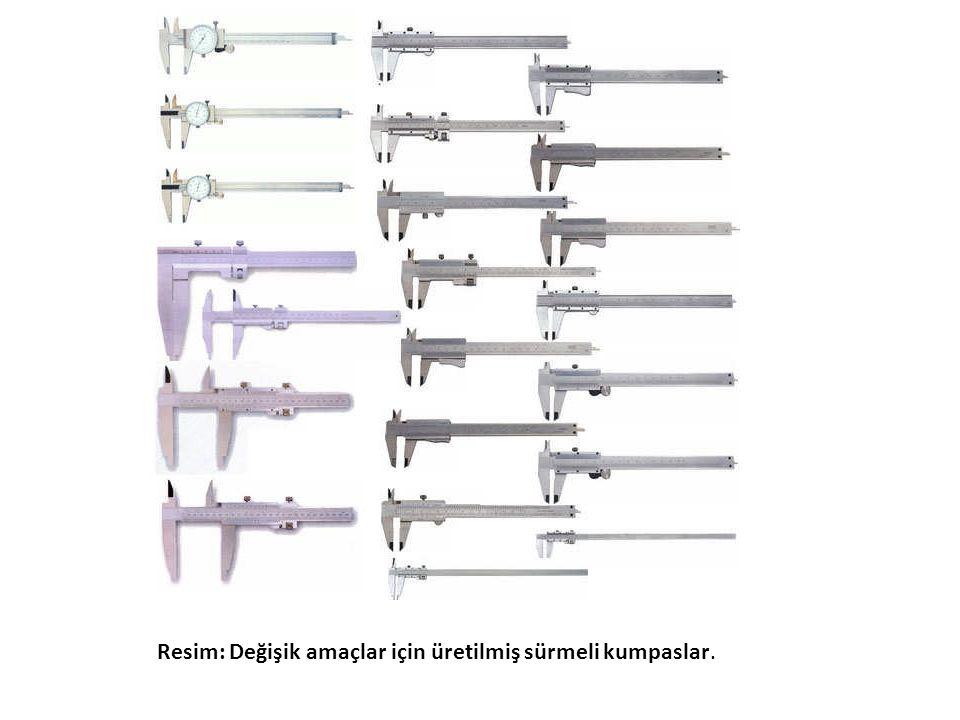 Resim: Değişik amaçlar için üretilmiş sürmeli kumpaslar.