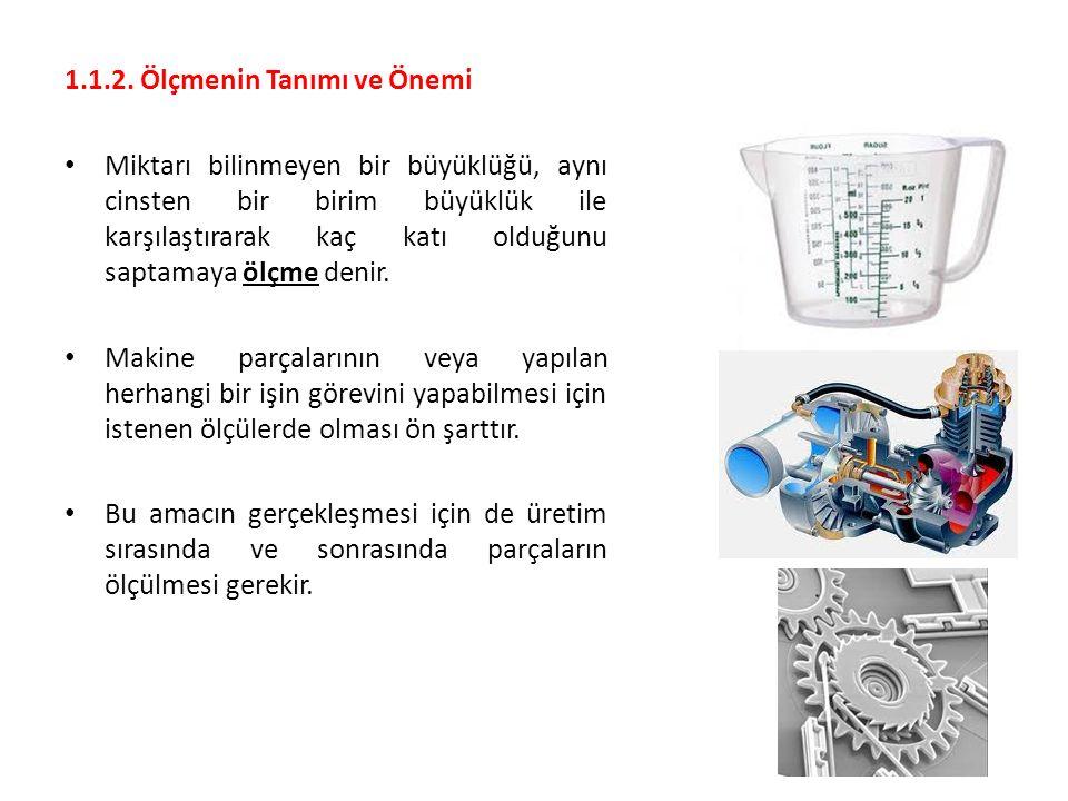 2.3.2.Ölçü Sistemlerine Göre Mikrometreler Ölçü sistemlerini daha önce öğrenmiştik.