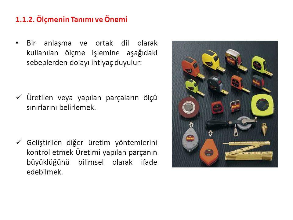 3.2.Tolerans Almanya'nın DIN ve Türkiye'nin TSE standardı gibi.