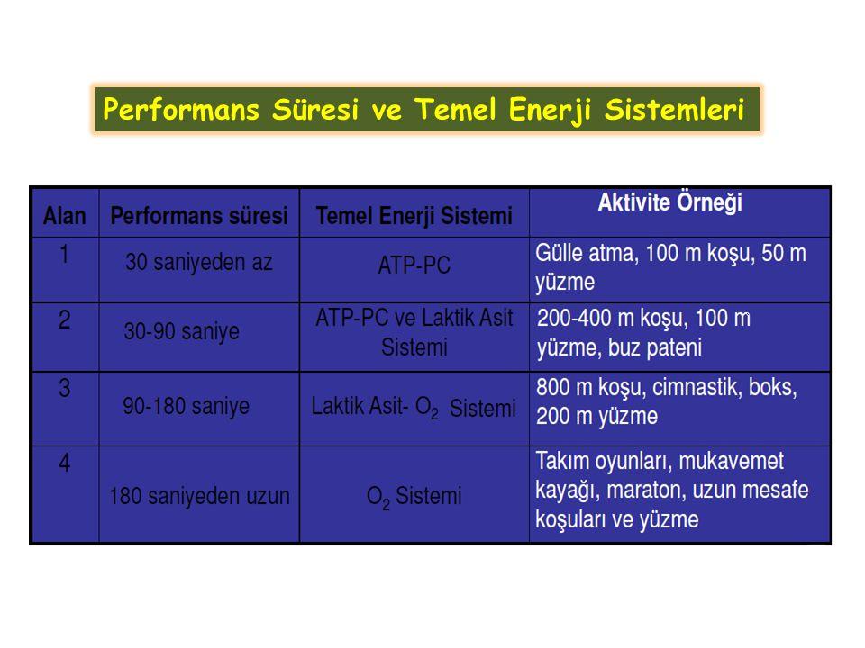 Performans Süresi ve Temel Enerji Sistemleri