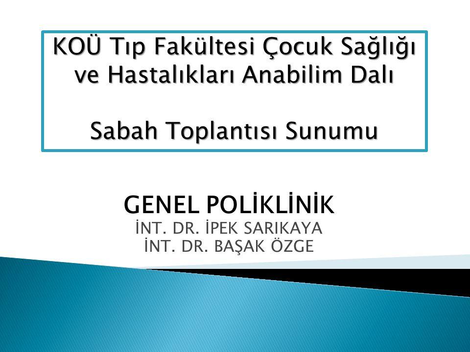 GENEL POLİKLİNİK İNT. DR. İPEK SARIKAYA İNT. DR.