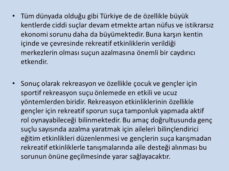 Tüm dünyada olduğu gibi Türkiye de de özellikle büyük kentlerde ciddi suçlar devam etmekte artan nüfus ve istikrarsız ekonomi sorunu daha da büyümektedir.