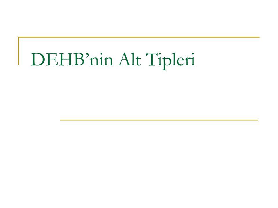 DEHB'nin Alt Tipleri