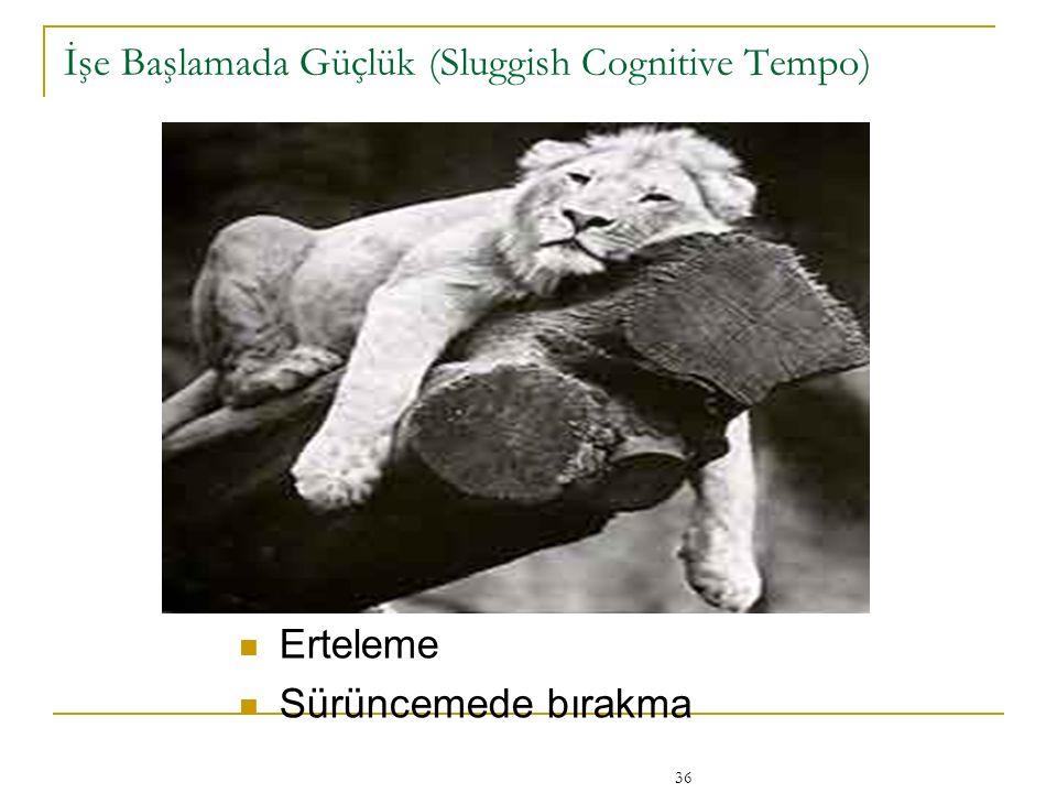 36 İşe Başlamada Güçlük (Sluggish Cognitive Tempo) Erteleme Sürüncemede bırakma