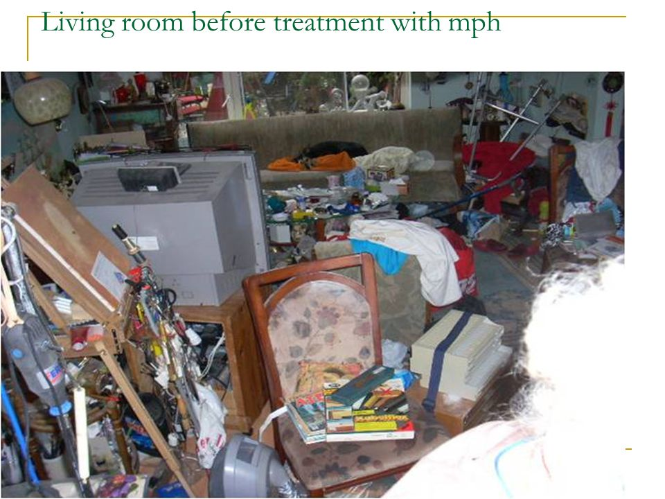 Living room before treatment with mph