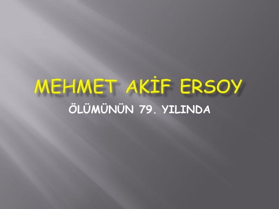 Mehmet Akif, şirlerinin büyük çoğunluğunu başyazar ı bulunduğu Sebîlürreşad dergisinde, ilk sayıdan başlayarak yayımlamıştır.