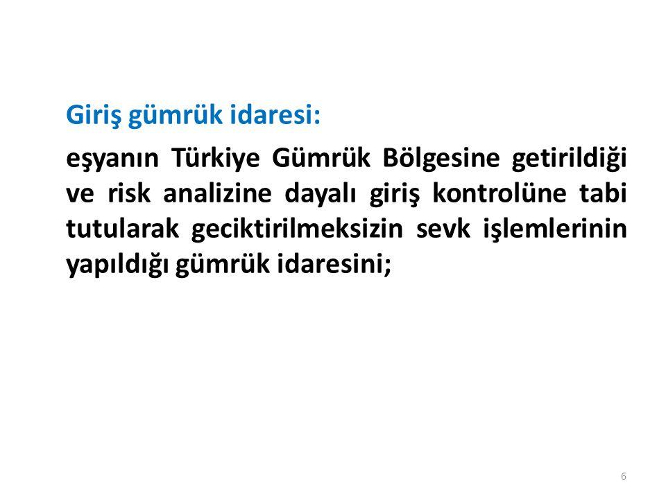 Serbest dolaşımda bulunan eşya: 18 inci madde hükümlerine göre tümüyle Türkiye Gümrük Bölgesinde elde edilen ve bünyesinde Türkiye Gümrük Bölgesi dışındaki ülke veya topraklardan ithal edilen girdileri bulundurmayan veya şartlı muafiyet düzenlemelerine tabi tutulan eşyadan elde edilen ve tabi olduğu rejim hükümleri uyarınca özel ekonomik değer taşımadığı tespit edilen veya Türkiye Gümrük Bölgesi dışındaki ülke veya topraklardan serbest dolaşıma giriş rejimine tabi tutularak ithal edilen veya Türkiye Gümrük Bölgesinde, yukarıda belirtilen eşyadan ayrı ayrı veya birlikte elde edilen veya üretilen eşyayı; 17