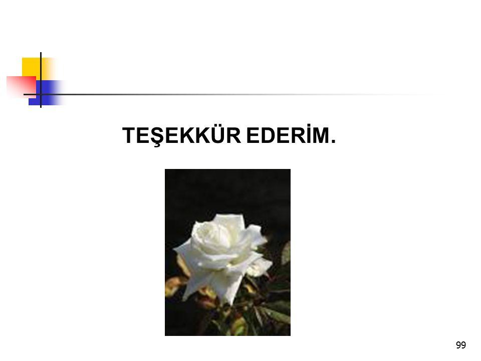 99 TEŞEKKÜR EDERİM.