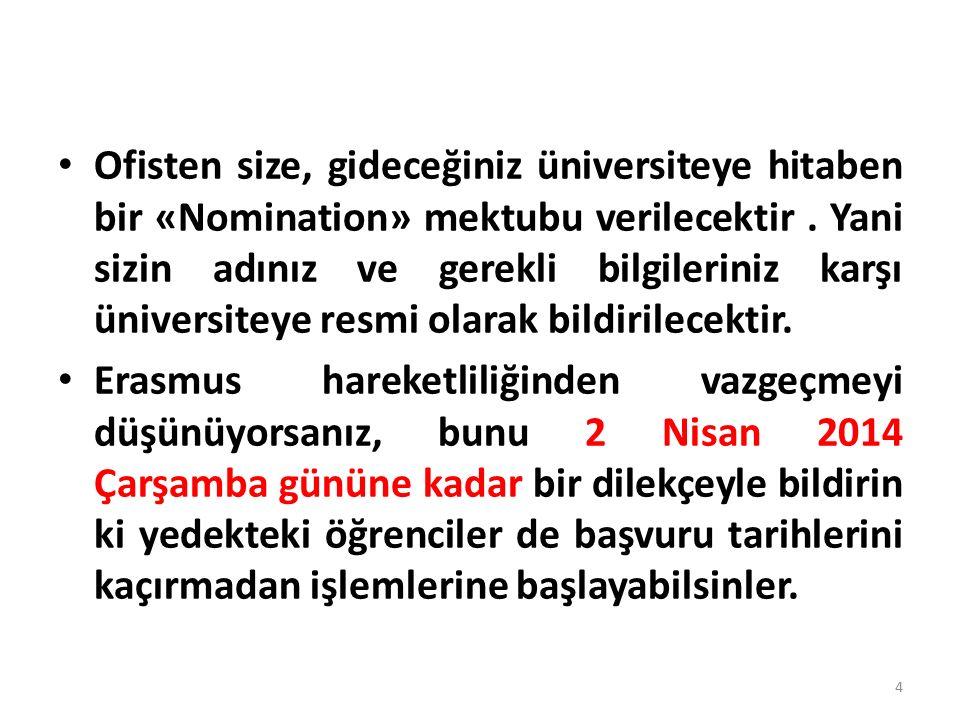 2.Yerleştiğiniz Üniversitenin akademik takvimini inceleyin.