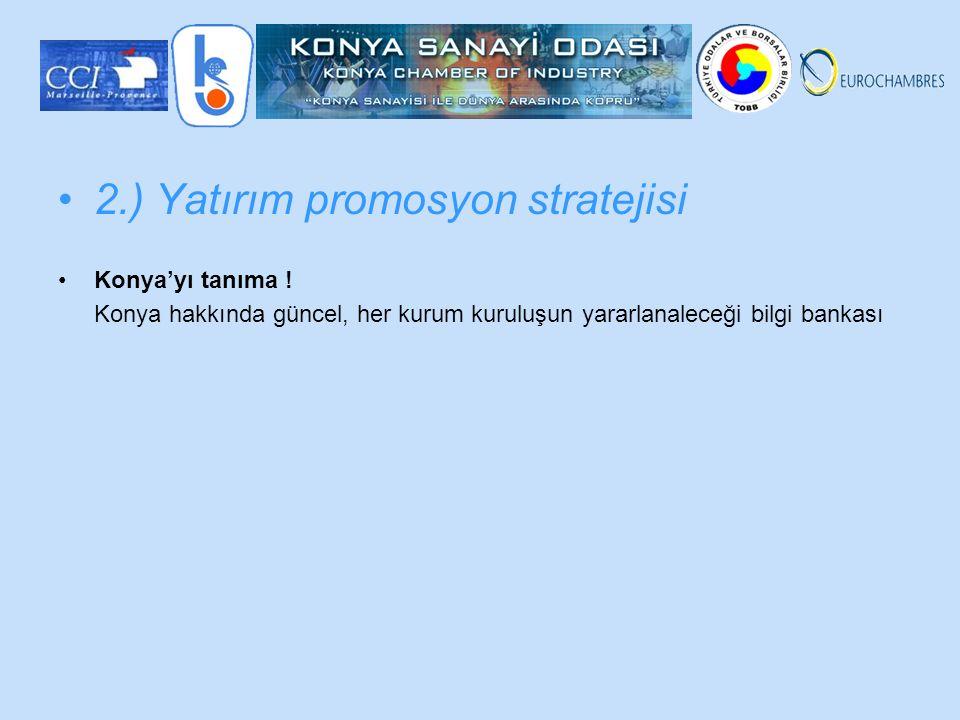 2.) Yatırım promosyon stratejisi Konya'yı tanıma .