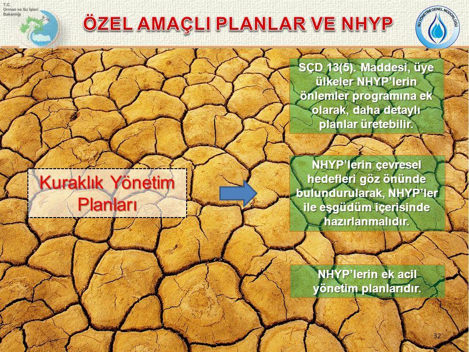 NHYP'lerin çevresel hedefleri göz önünde bulundurularak, NHYP'ler ile eşgüdüm içerisinde hazırlanmalıdır.