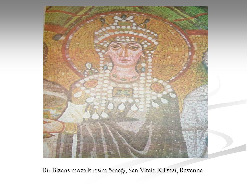 Bir Bizans mozaik resim örneği, San Vitale Kilisesi, Ravenna