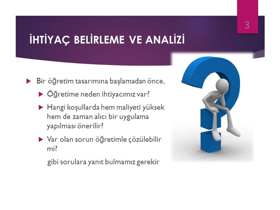 BİR İHTİYAÇ ANALİZİNİN UYGULANMASI  Aşama 4.