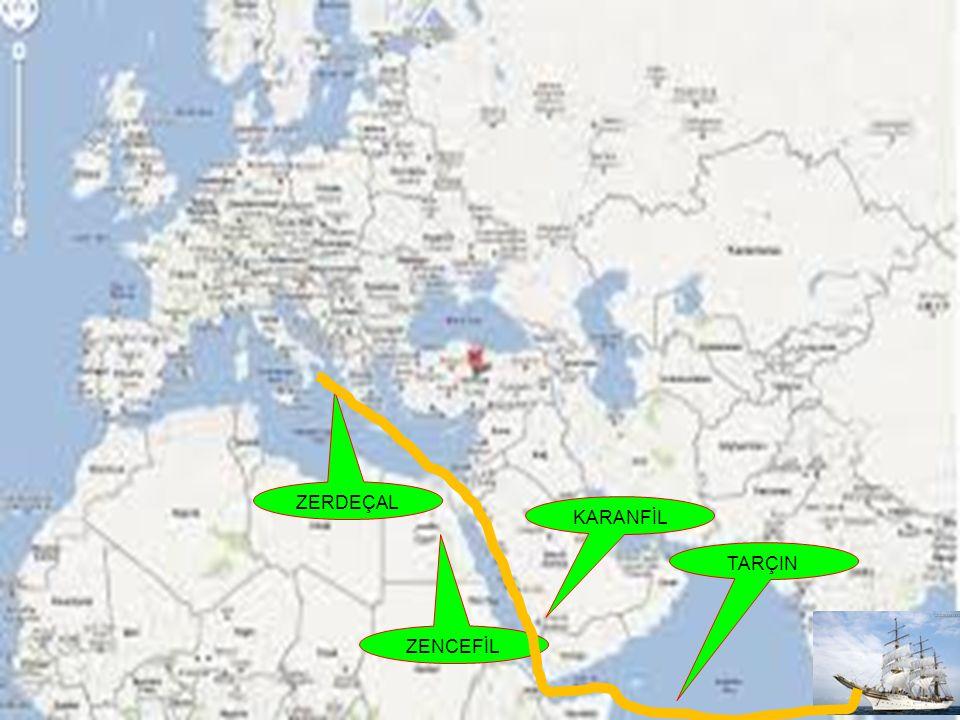 BAHARAT YOLU Baharat Yolu Hindistan dan başlar Kızıldeniz,Mısır Akdeniz ve Avrupa ya kadar uzanır.