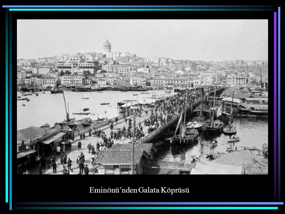 Eminönü'nden Galata Köprüsü