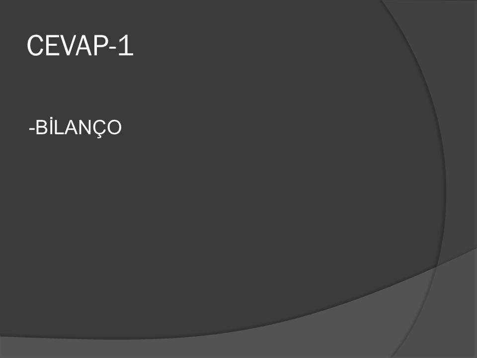CEVAP-1 -BİLANÇO