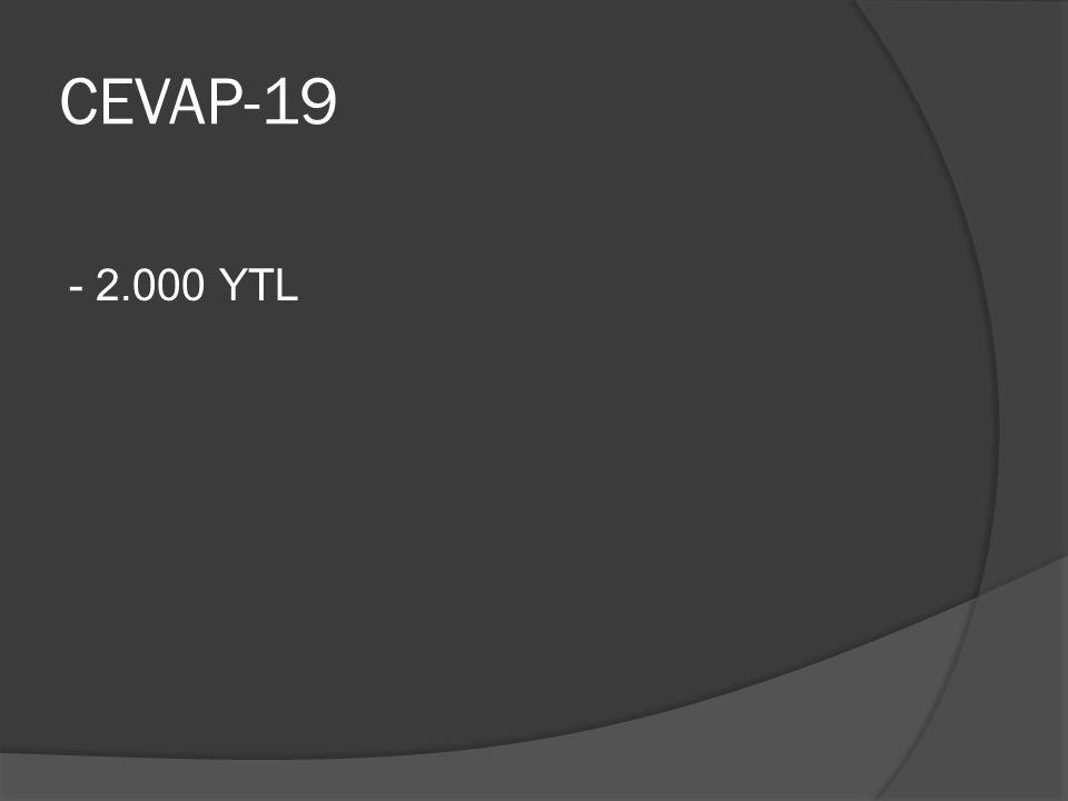 CEVAP-19 - 2.000 YTL
