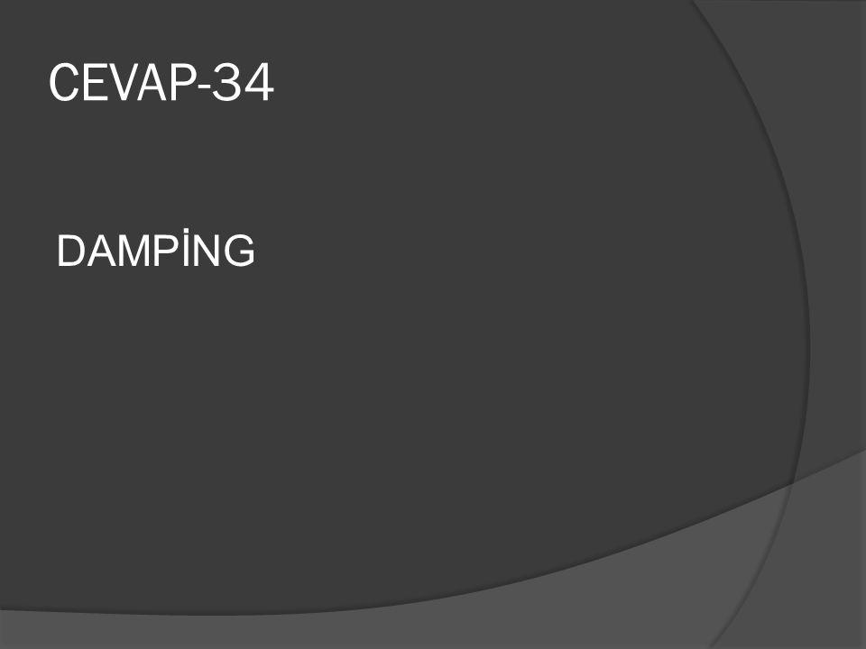 CEVAP-34 DAMPİNG