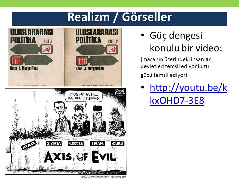 Realizm / Görseller Güç dengesi konulu bir video: (masanın üzerindeki insanlar devletleri temsil ediyor kutu gücü temsil ediyor) http://youtu.be/k kxOHD7-3E8 http://youtu.be/k kxOHD7-3E8