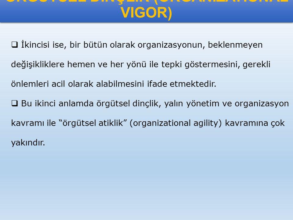 ÖRGÜTSEL DAYANIKLILIK (ORGANIZATIONAL RESILIENCE)  Resilience tanımı Türkçemize dayanıklılık olarak çevrilmiştir.