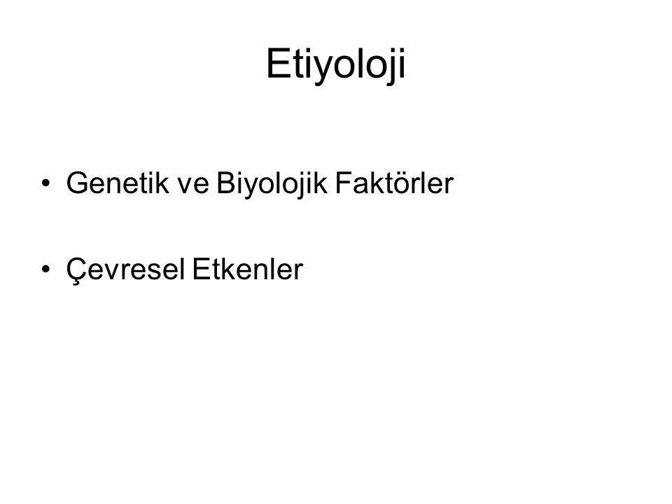 Etiyoloji Genetik ve Biyolojik Faktörler Çevresel Etkenler