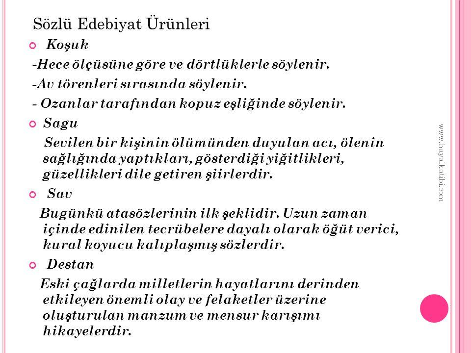 İ SLAMIYET TÜRK DESTANLARı 1)Altay-Yakut destanı -Yaradılış Destanı Dünyanın yaratılışı hakkında Türklerin inanışlarını ortaya koyan bir destandır.