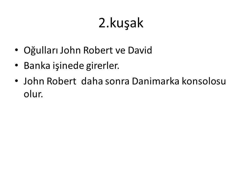 2.kuşak Oğulları John Robert ve David Banka işinede girerler.