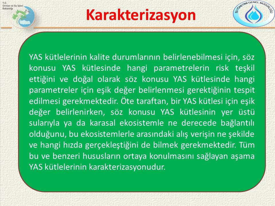 YAS kütlelerinin kalite durumlarının belirlenebilmesi için, söz konusu YAS kütlesinde hangi parametrelerin risk teşkil ettiğini ve doğal olarak söz ko