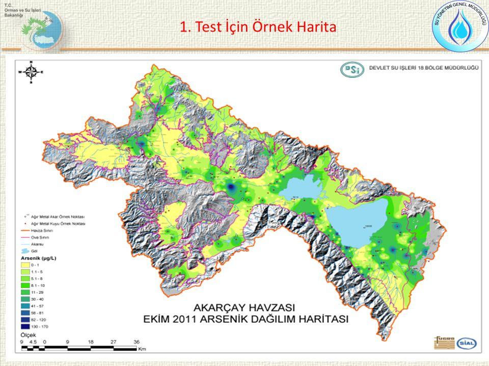 1. Test İçin Örnek Harita