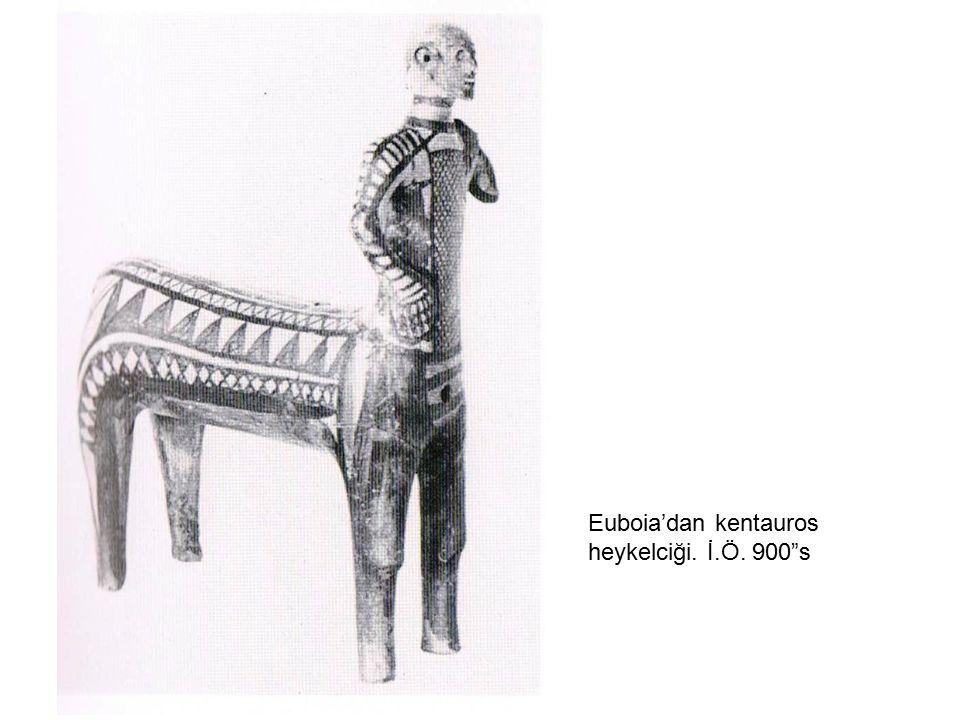 """Euboia'dan kentauros heykelciği. İ.Ö. 900""""s"""