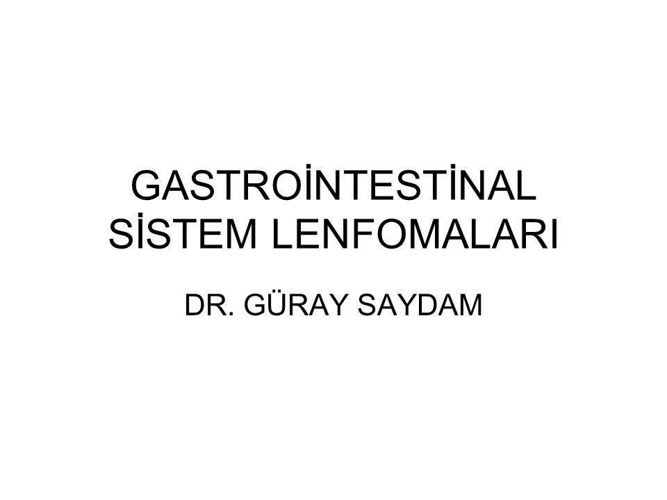 GASTROİNTESTİNAL SİSTEM LENFOMALARI DR. GÜRAY SAYDAM