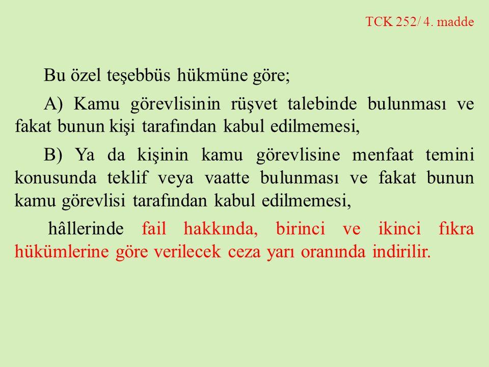 TCK 252/5.madde 6352 sayılı Yasa ile TCK'nın 252/5.