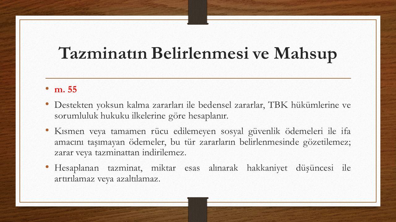 Manevi Zarar ve Tazmini M.56 Hâkim, bir kimsenin bedensel bütünlüğünün zedelenmesi durumunda, olayın özelliklerini göz önünde tutarak, zarar görene uygun bir miktar paranın manevi tazminat olarak ödenmesine karar verebilir.