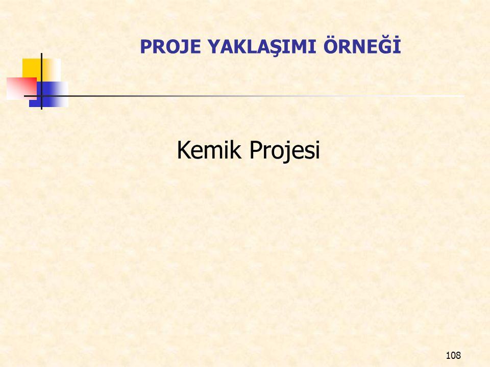 PROJE YAKLAŞIMI ÖRNEĞİ Kemik Projesi 108