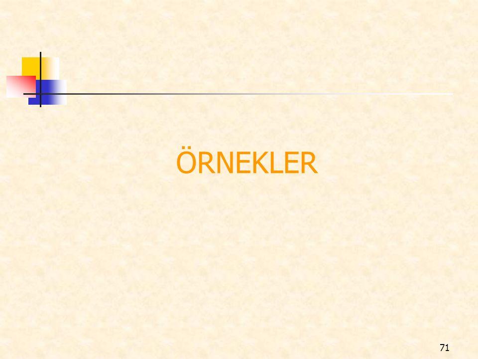 ÖRNEKLER 71