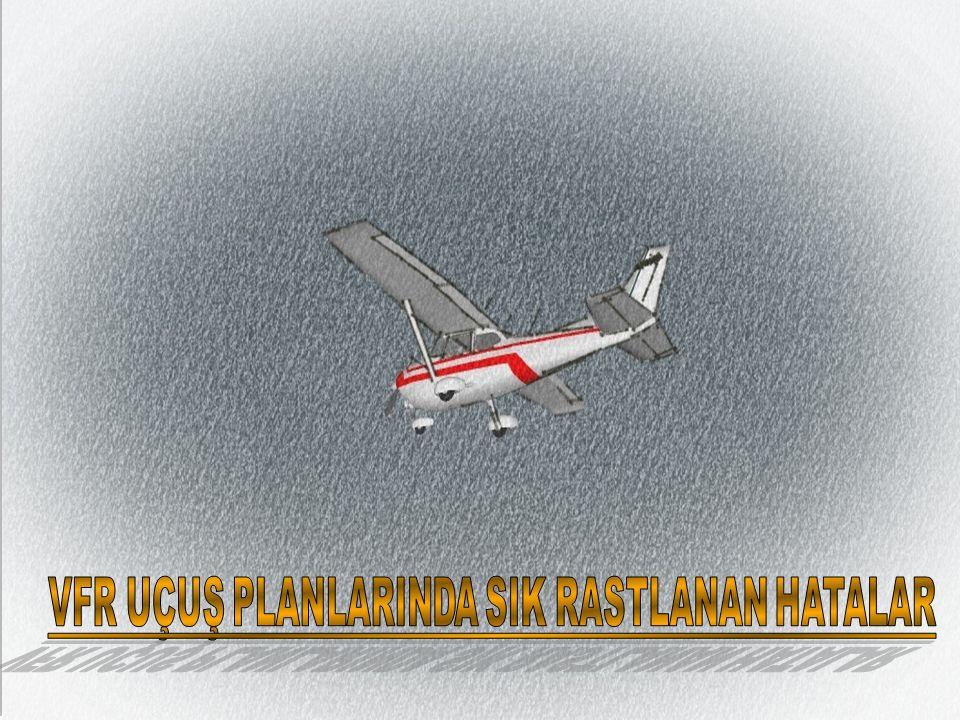 Türk hava sahasında performans yetersizliği nedeniyle kontrollü hava sahalarında uçamayan VFR yabancı tescilli hava araçları kontrollü yolun yol minimasına bağlı kalmaksızın yolun izdüşümünü takip eder.