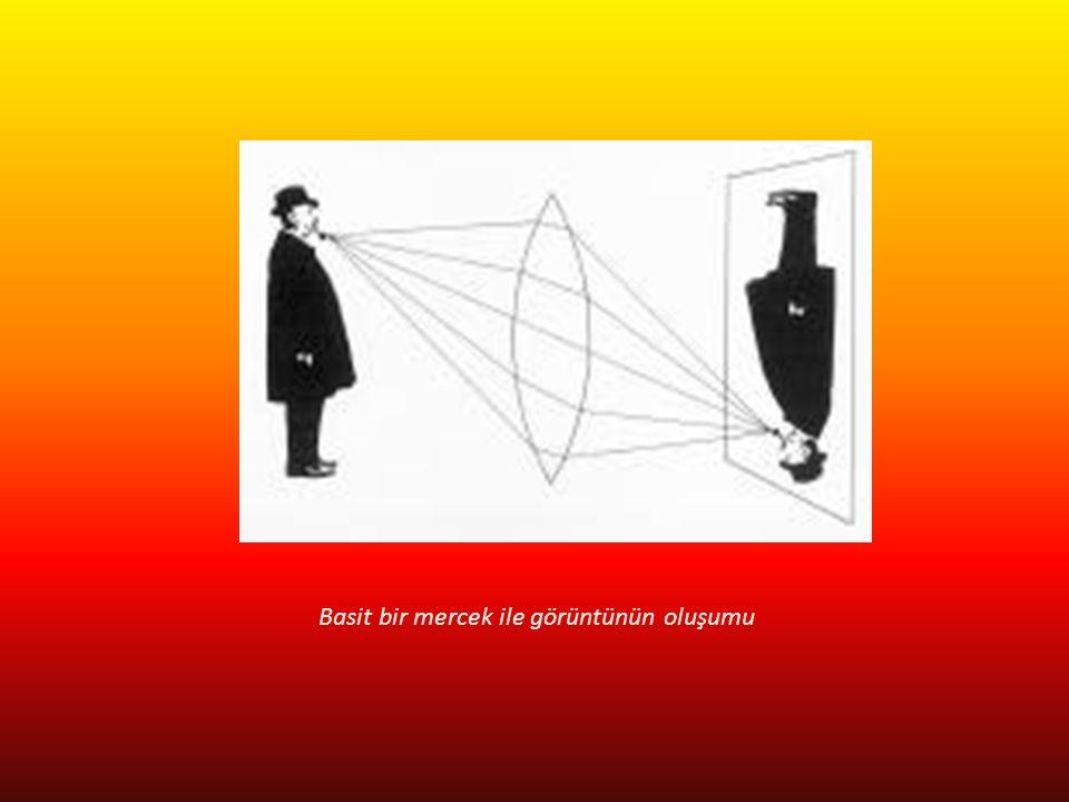 Büyük Formatlı Makineler Bir objektif düzlemi ve film düzlemi vardır.