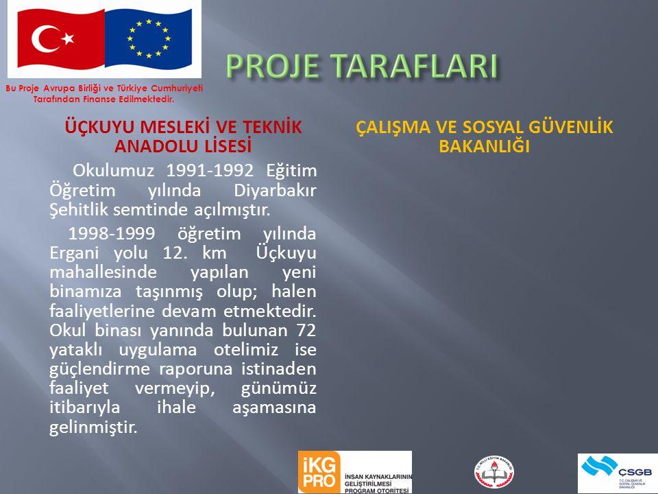 ÜÇKUYU MESLEKİ VE TEKNİK ANADOLU LİSESİ Okulumuz 1991-1992 Eğitim Öğretim yılında Diyarbakır Şehitlik semtinde açılmıştır.