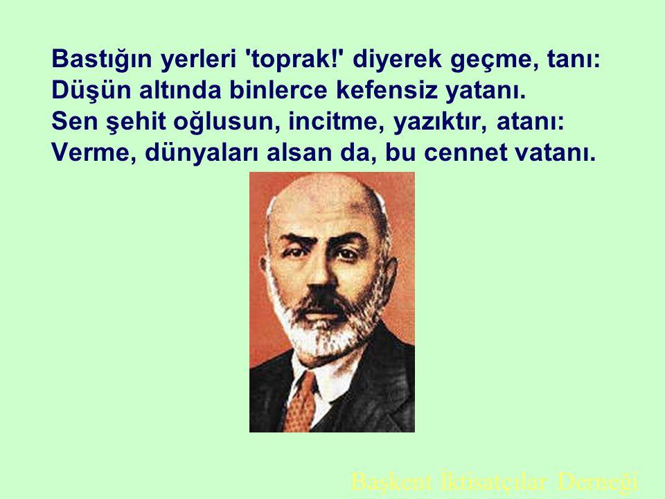 Atatürk Diyor ki; Millî müdafaamızı; düşmanların bayrakları, babalarımızın ocakları üstünden çekilinceye kadar terkedemeyiz. İstanbul mabedleri etrafı