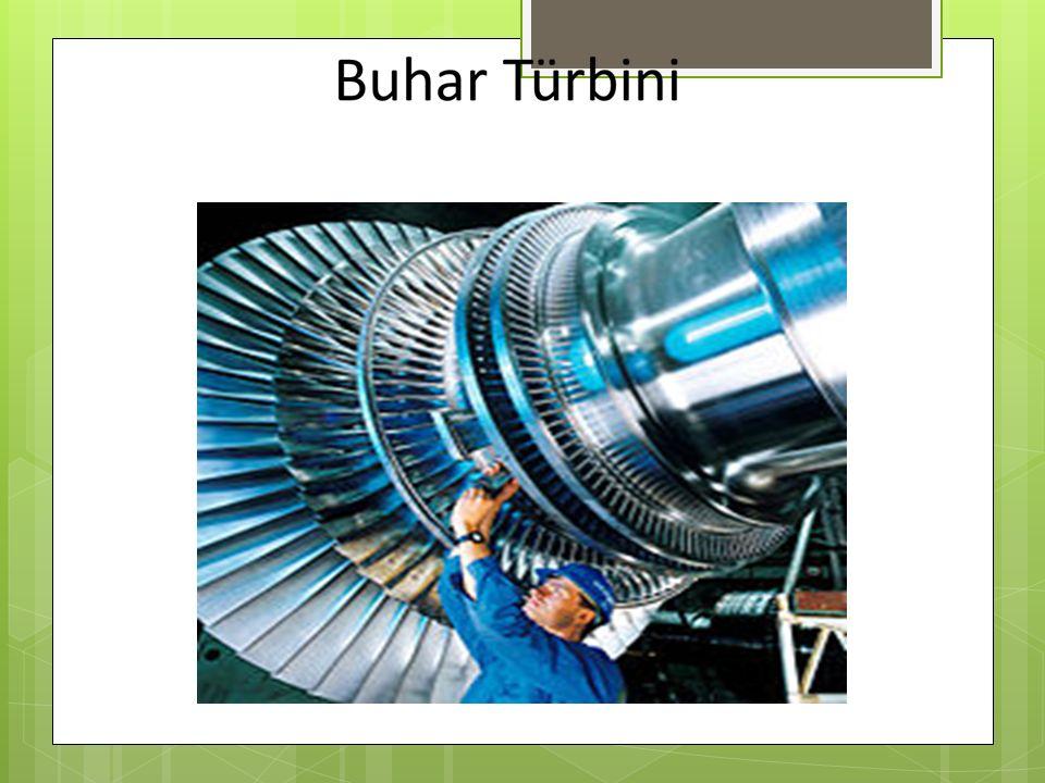 Gaz Türbinleri  Bu türbinlerde akışkan olarak yanmış gazlar kullanılır.