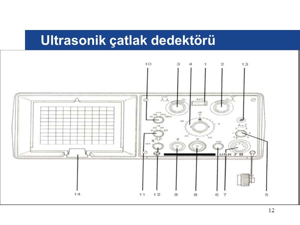 Ultrasonik çatlak dedektörü 12