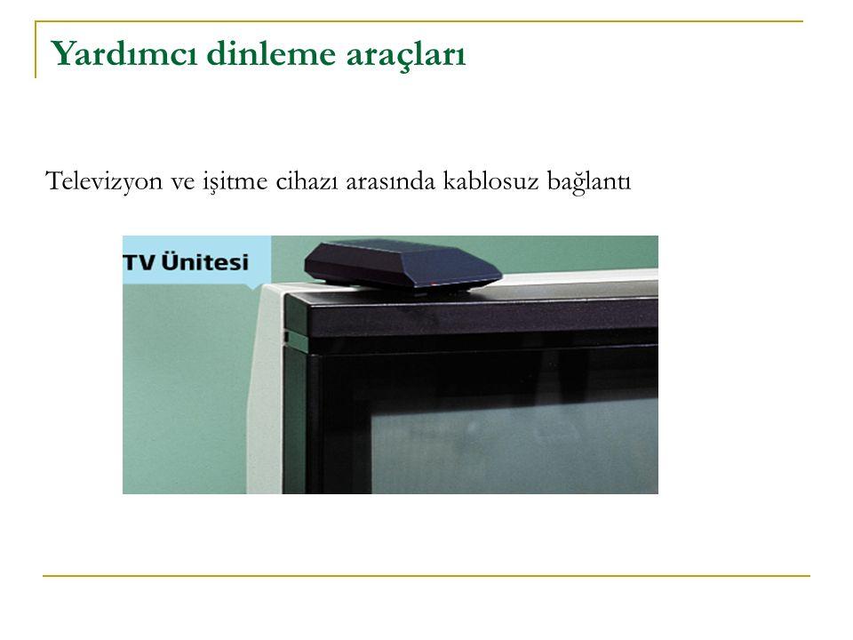 Televizyon ve işitme cihazı arasında kablosuz bağlantı