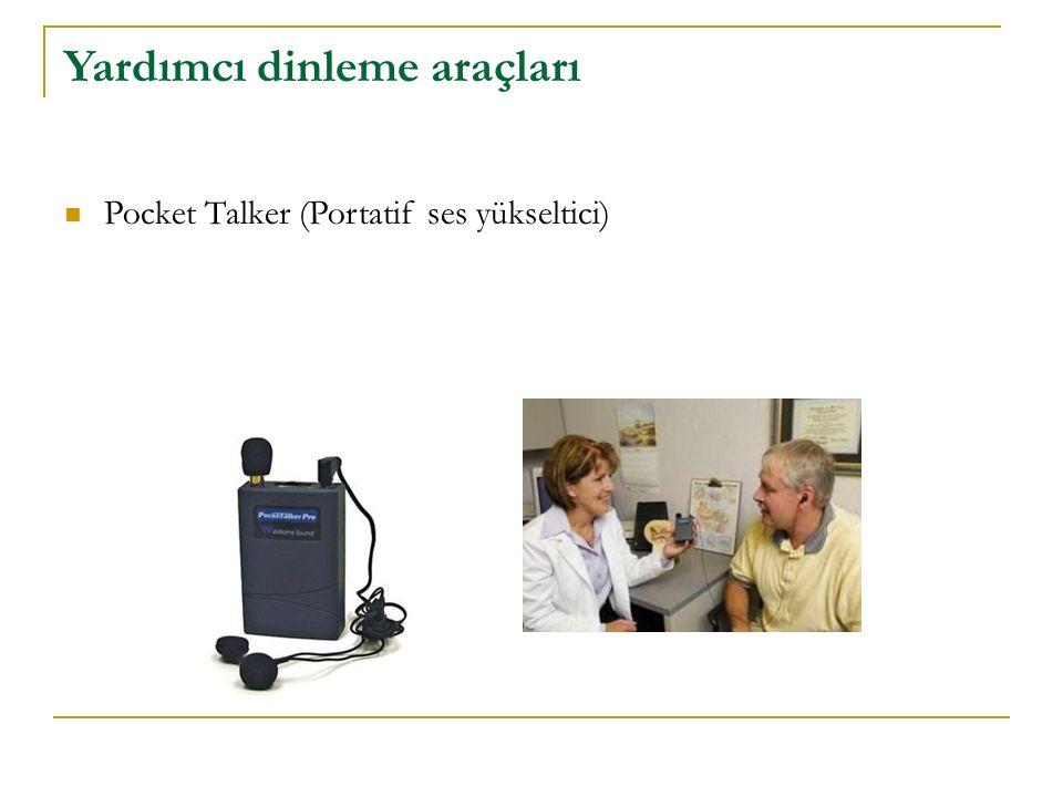Yardımcı dinleme araçları Pocket Talker (Portatif ses yükseltici)