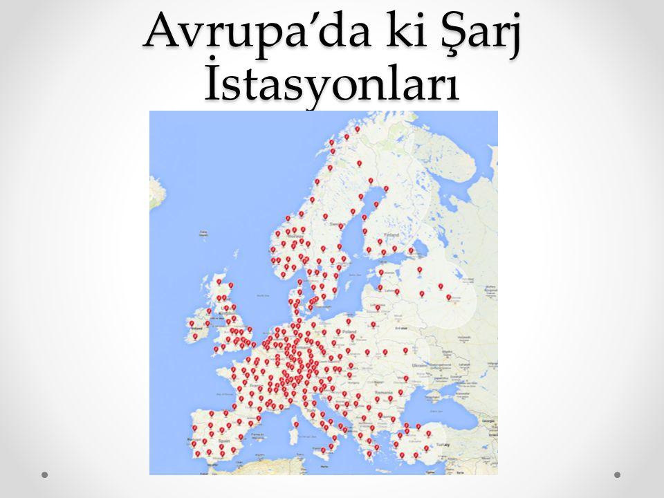 Avrupa'da ki Şarj İstasyonları