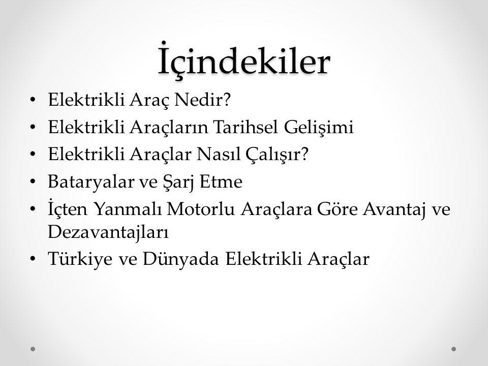 Türkiye'de ki Şarj İstasyonları