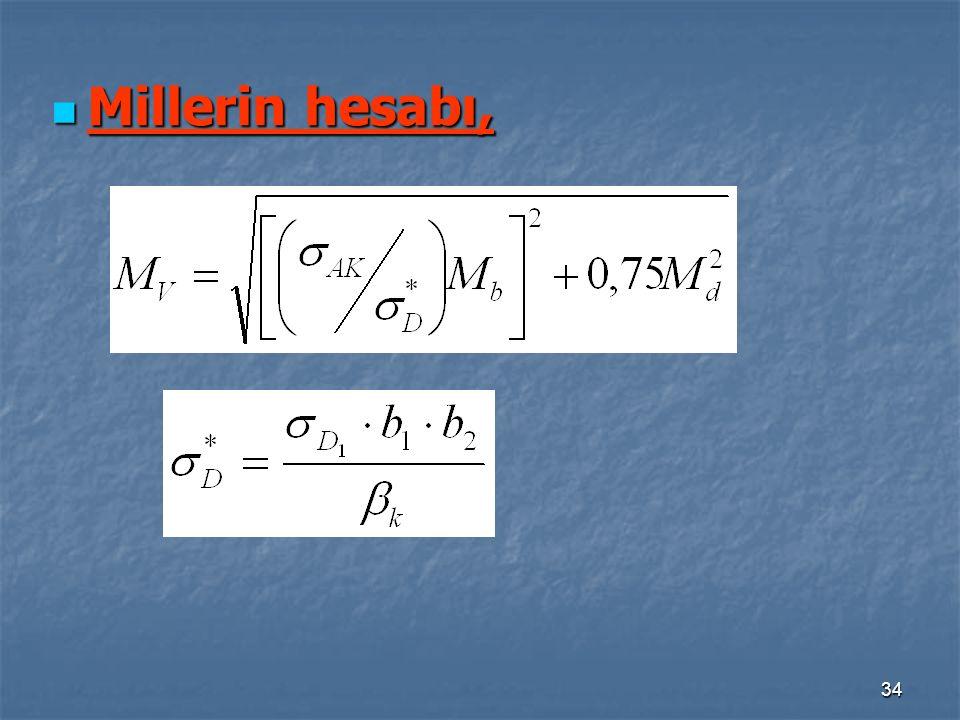 34 Millerin hesabı, Millerin hesabı,