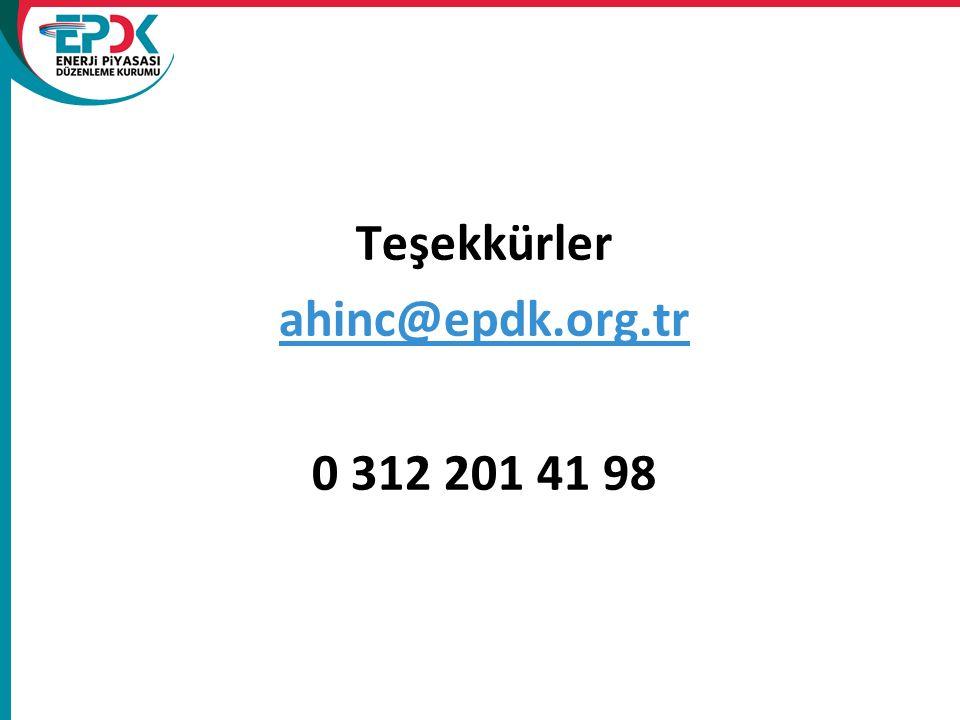 Teşekkürler ahinc@epdk.org.tr 0 312 201 41 98 ahinc@epdk.org.tr