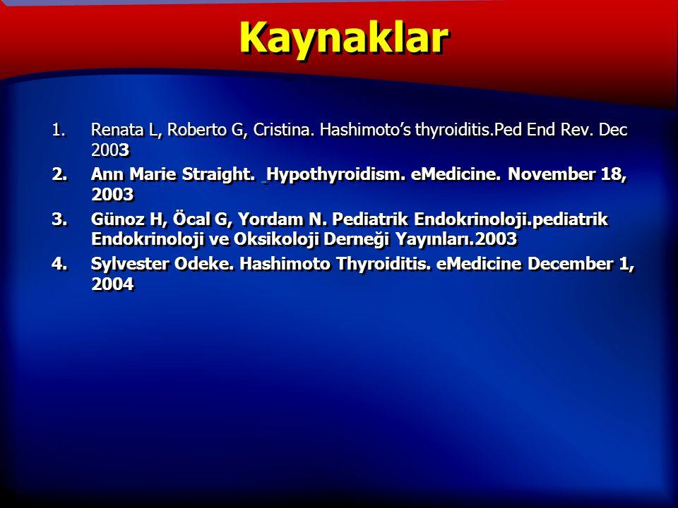 TANIM 1.Renata L, Roberto G, Cristina. Hashimoto's thyroiditis.Ped End Rev.