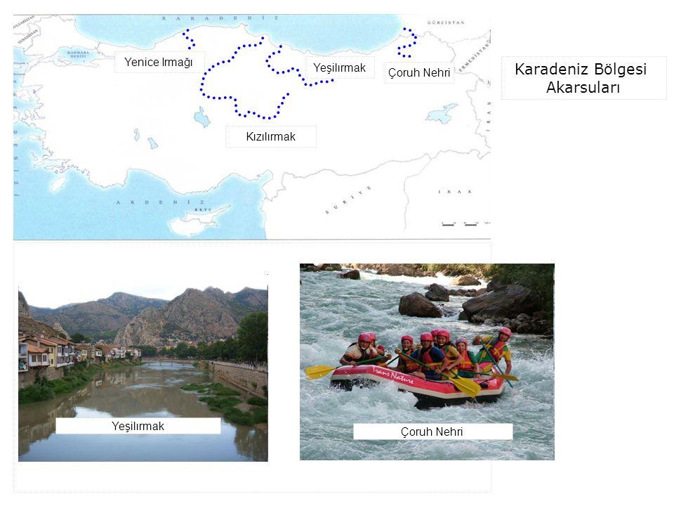 Karadeniz Bölgesi Akarsuları Kızılırmak Yeşilırmak Çoruh Nehri Yenice Irmağı Yeşilırmak Çoruh Nehri
